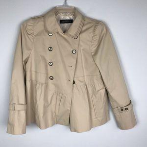 Zara Woman | Camel Peplum Jacket Blazer